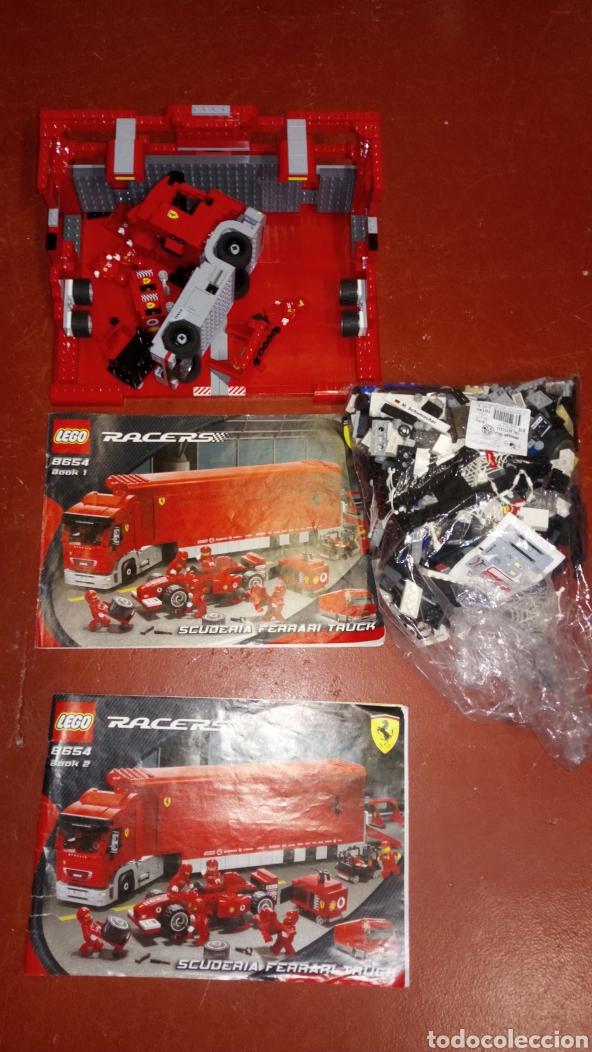LEGO RACERS TRUCK ESCUDERÍA FERRARI 8654 BASTANTE COMPLETO EN APARIENCIA MÁS DE DOS KILOS (Juguetes - Construcción - Lego)