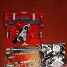 Juegos construcción - Lego: LEGO RACERS TRUCK ESCUDERÍA FERRARI 8654 BASTANTE COMPLETO EN APARIENCIA MÁS DE DOS KILOS. Lote 194197021