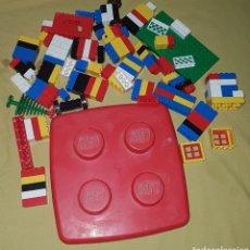 Juegos construcción - Lego: GRAN LOTE DE PIEZAS LEGO Y TAPADERA CAJA LEGO. Lote 194199288