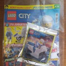 Juegos construcción - Lego: LEGO CITY -- Nº 15 MINIFIGURA POLICIA + MOTO. Lote 194289993