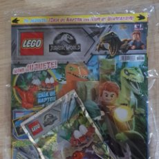 Juegos construcción - Lego: REVISTA LEGO JURASSIC WORLD NÚMERO 1 EN BOLSA PRECINTADA CON SOBRE FIGURA DINOSAURIO. Lote 194359963