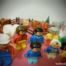 Juegos construcción - Lego: MUÑECOS FIGURAS DE LEGO DUPLO GROUP. GRANJA DUPLO. FAMILIAS, GALLINAS, VASCAS, CABALLOS.... Lote 194502778