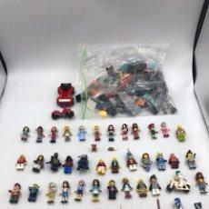 Juegos construcción - Lego: LOTE DE 46 FIGURAS LEGO ORIGINAL + 300 GRAMOS DE PIEZAS. Lote 194691645