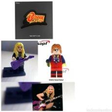 Juegos construcción - Lego: MADONNA Y DAVID BOWIE PERSONALIZADOS Y PARCHE TERMOADHESIVOS. Lote 194932512