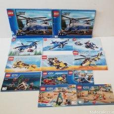 Juegos construcción - Lego: LOTE DE 13 LIBROS DE INSTRUCCIONES LEGO CITY CREATOR REF 4439 31049 31023 60092 60090 60011 60153. Lote 195014397