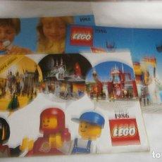 Juegos construcción - Lego: TRES CATALOGOS LEGO AÑOS 1985-1986. Lote 195338737