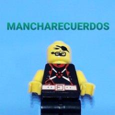 Juegos construcción - Lego: FIGURA LEGO O SIMILAR PIRATA PARCHE SIN PELO PELUCA PIEZA REPUESTO. Lote 196234971