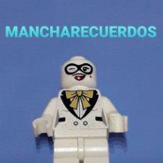 Juegos construcción - Lego: FIGURA LEGO O SIMILAR 2 CARAS TRAJE BLANCO PAJARITA DOS BRAZOS PUNTOS SIN PELO PELUCA PIEZA REPUESTO. Lote 196235222