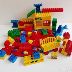 Juegos construcción - Lego: LOTE DE PIEZAS LEGO COCHES Y BLOQUES. Lote 198321376