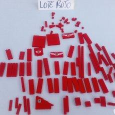 Juegos construcción - Lego: LOTE LEGO PIEZAS ROJO ROJA BOMBEROS CUARTEL INCOMPLETO LO Q SE VE EN LA FOTO. Lote 198558742