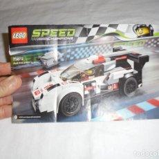 Juegos construcción - Lego: LIBRO DE INSTRUCCIONES LEGO SPEED CHAMPIONS 75872. Lote 200379941