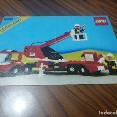 Juegos construcción - Lego: LEGOLAND. LEGO. CATÁLOGO DE INSTRUCCIONES DE CAMION BOMBEROS. 6358. GRAPA. BUEN ESTADO. DIFICIL. Lote 201165443