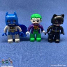 Juegos construcción - Lego: LEGO DUPLO - LOTE DE FIGURAS BATMAN + JOKER + CATWOMAN - FIGURA DE 6 CM. Lote 203921042
