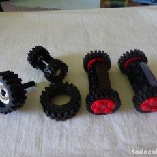 Juegos construcción - Lego: LOTE DE RUEDAS Y EJES LEGO, AÑOS 90. Lote 204618171