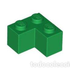 Juegos construcción - Lego: LEGO 2357 LADRILLO VERDE 2 X 2 ESQUINA CJN3. Lote 214178780