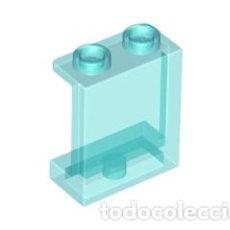 Juegos construcción - Lego: LEGO 87552 TRANS-LIGHT BLUE PANEL 1 X 2 X 2 WITH SIDE SUPPORTS - HOLLOW STUDS X5 PIEZAS CJN8. Lote 221966171