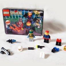Juegos construcción - Lego: SET LEGO SYSTEM CON CAJA DE FIGURAS DEL ESPACIO REF 6705 - SPACE EXPLORERS. Lote 206574110