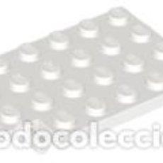 Juegos construcción - Lego: LEGO 92099 PLACA BLANCA, MODIFICADA 4 X 6 CON BISAGRA DE PUERTA TRAMPA (PASADORES LARGOS) L16. Lote 207130420