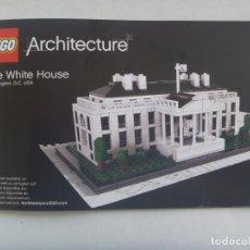 Juegos construcción - Lego: LEGO ARCHITECTURE : LIBRO DE INSTRUCCIONES PARA LA CONSTRUCCION DE LA CASA BLANCA. EN INGLES. Lote 207662952