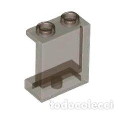 Juegos construcción - Lego: LEGO 87552 TRANSPARENTE NEGRO PANEL 1 X 2 X 2 WITH SIDE SUPPORTS - HOLLOW STUDS CJN5. Lote 221966087