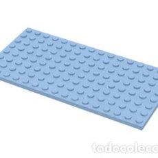 Juegos construcción - Lego: LEGO 92438 PLACA 8 X 16 AZUL CLARO BRILLANTE CJN6. Lote 210443638