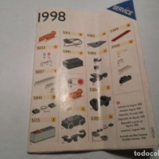 Juegos construcción - Lego: CATALOGO LEGO SERVICE PIEZAS DISPONIBLES EN 1998 PRECIOS CUPÓN DE PEDIDO. Lote 210459798