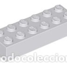 Juegos construcción - Lego: LEGO 2456 GRIS CLARO AZULADO. LADRILLO 2 X 6 CJN1. Lote 210834231