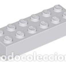 Juegos construcción - Lego: LEGO 2456 GRIS CLARO AZULADO. LADRILLO 2 X 6 CJN1. Lote 210834255