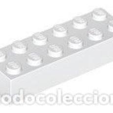 Juegos construcción - Lego: LEGO 2456 BLANCO. LADRILLO 2 X 6 CJN1. Lote 210834520