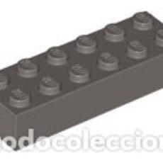 Juegos construcción - Lego: LEGO 2456 GRIS OSCURO. LADRILLO 2 X 6 L9. Lote 210835484
