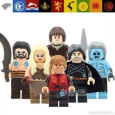 Juegos construcción - Lego: JUEGO DE TRONOS MINIFIGURA LOTE DE 7 REGALO MARCAPAGINAS BARATHEON. Lote 210965074