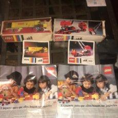 Juegos construcción - Lego: DOS CAJAS VACIAS DE LEGO, MANUALES Y CATALOGOS. Lote 211438505