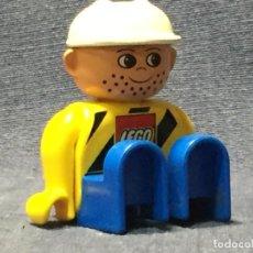 Juegos construcción - Lego: MUÑECO LEGO CASCO BLANCO 6,5X4,5CMS. Lote 211599572