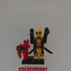 Juegos construcción - Lego: COMPATIBLE LEGO DEADPOOL AMARILLO CON PERRO NUEVO SIN USO. Lote 212003347