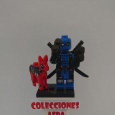 Juegos construcción - Lego: COMPATIBLE LEGO DEADPOOL AZUL CON PERRO NUEVO SIN USO. Lote 212003422