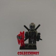 Juegos construcción - Lego: COMPATIBLE LEGO DEADPOOL GRIS CON PERRO NUEVO SIN USO. Lote 212003486