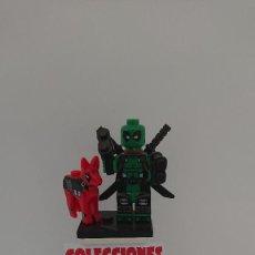 Juegos construcción - Lego: COMPATIBLE LEGO DEADPOOL VERDE CON PERRO NUEVO SIN USO. Lote 212003601