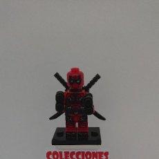 Juegos construcción - Lego: COMPATIBLE LEGO DEADPOOL ROJO NUEVO SIN USO. Lote 212003695