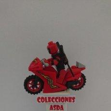 Juegos construcción - Lego: COMPATIBLE LEGO DEADPOOL ROJO CON MOTO NUEVO SIN USO. Lote 212003866