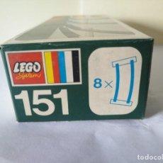 Juegos construcción - Lego: 2 CAJAS DE VIAS LEGO VINTAGE AÑOS 70 REF: 151. Lote 262826910