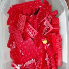 Juegos construcción - Lego: -LEGO -LOTE DE 220 GRAMOS DE PIEZAS ROJAS -FERRARI- BOMBEROS -DIFERENTES TIPOS Y TAMAÑOS. Lote 213089700