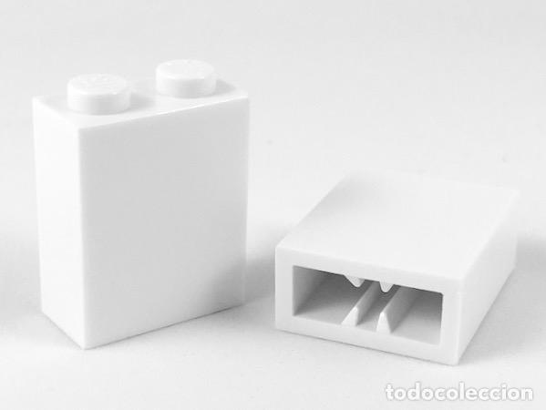 LEGO 3245B LADRILLO BLANCO 1 X 2 X 2 CON SOPORTE DE EJE INTERIOR X5 PIEZAS (Juguetes - Construcción - Lego)