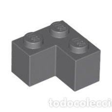 Juegos construcción - Lego: LEGO 2357 LADRILLO GRIS OSCURO AZULADO 2 X 2 ESQUINA CJN3. Lote 214178731