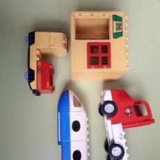 Juegos construcción - Lego: LEGO GROUP CAMIÓN DE BOMBEROS AVIÓN O LOCOMOTORA (ENCIENDE)VER ÚLTIMA FOTO Y ESTACIÓN O SIMILAR. Lote 218375472