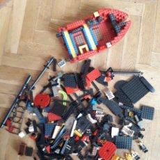 Juegos construcción - Lego: COPIA DE LEGO MISMA ESCALA Y ESTILO BARCO Y MUÑECOS. Lote 218376985