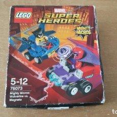 Juegos construcción - Lego: LEGO MARVEL SUPERHEROES WOLVERINE LOBEZNO MAGNETO MIGHTY MICROS NUEVO 76073. Lote 219206251