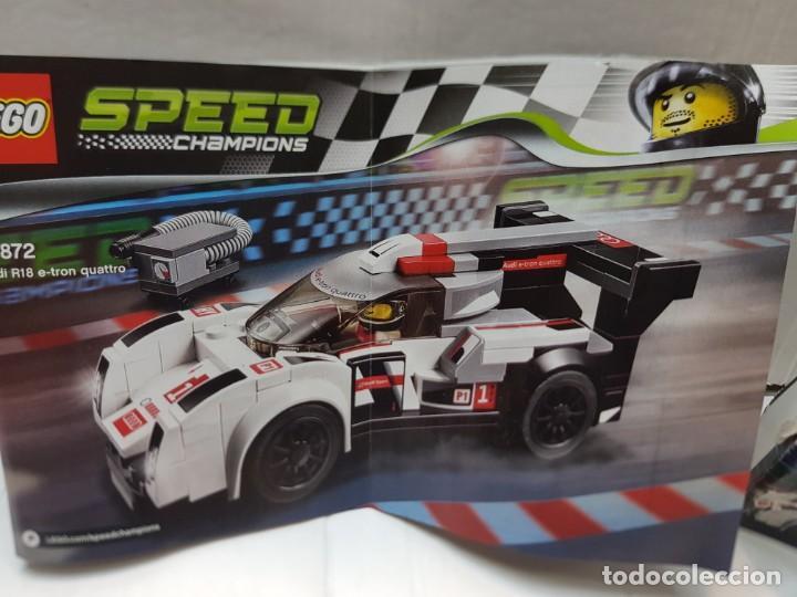 Juegos construcción - Lego: Lego Audi R18 Quattro Speed Champions red.75872 en caja original y manual completo - Foto 3 - 220935020