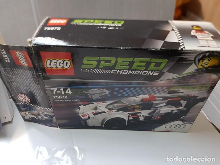 Juegos construcción - Lego: Lego Audi R18 Quattro Speed Champions red.75872 en caja original y manual completo - Foto 4 - 220935020