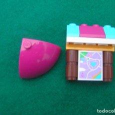 Juegos construcción - Lego: LOTE DE PIEZAS LEGO: CARTEL - MAPA Y PIEZA PARTE DE ESFERA.. Lote 221625000