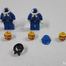 Giochi costruzione - Lego: NO COMPRAR ------ DOS SOLDADOS FEDERALES LEGO Y CABEZA - GORRA Y PAÑOLETA NEGRA. Lote 221879920